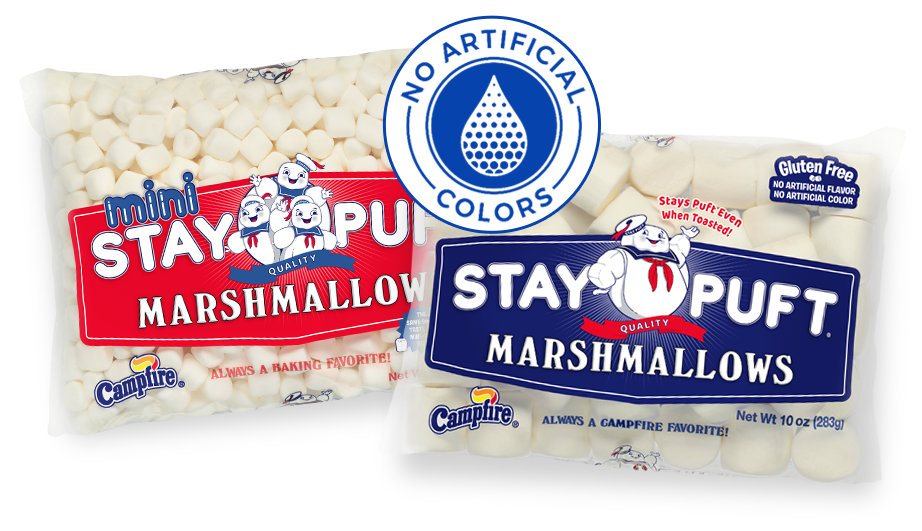 ghost behind ban symbol and marshmallows
