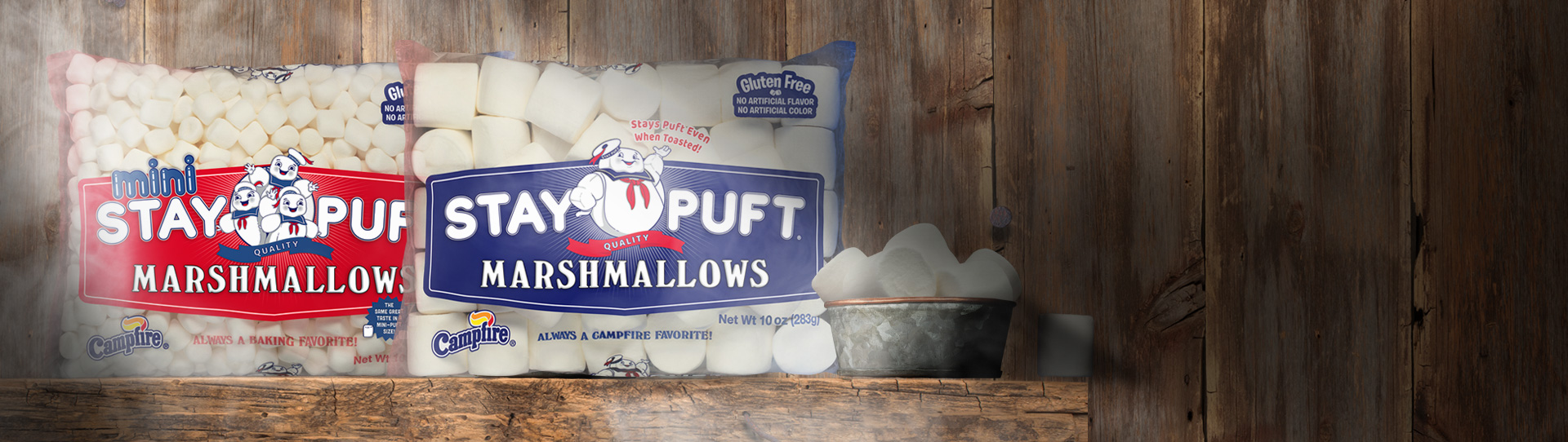 bags of StayPuft marshmallows
