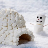 Marshmallow Igloo and Snowman Craft