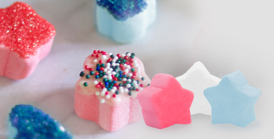 Frosted Red White And Blues Campfire Marshmallows