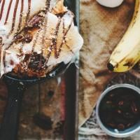 S'more Banana Bread Pudding Dessert