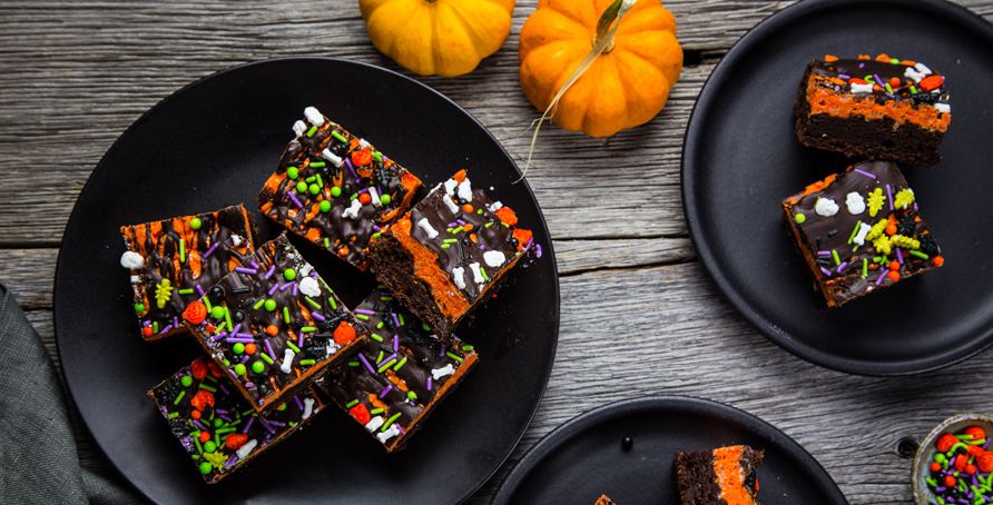 Halloween Brownie Cereal Treats