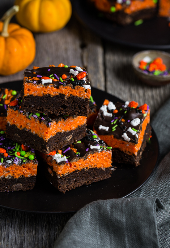 Halloween Brownie Cereal Treats Campfire Marshmallows