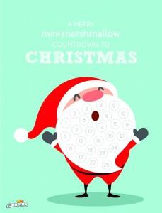Marshmallow Countdown Christmas Calendar