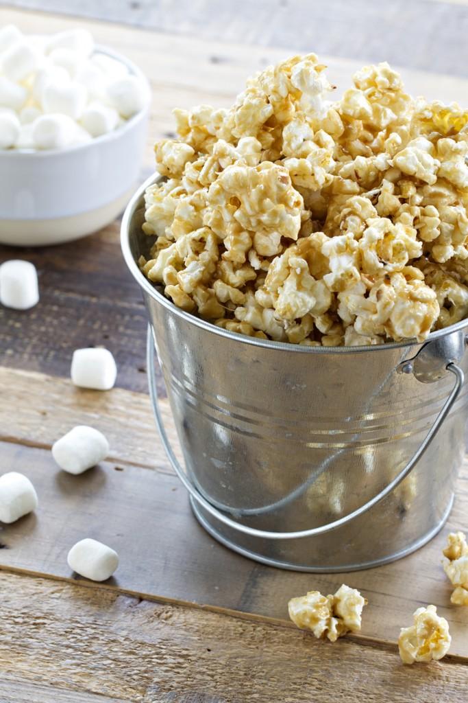 Easy Caramel Marshmallow Popcorn