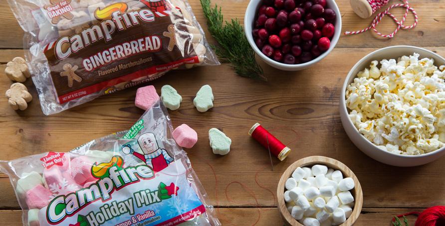 Marshmallow Holiday Garland