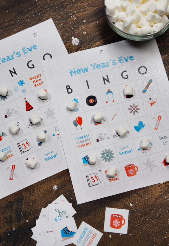 New Year\'s Eve Bingo Cards | Campfire Marshmallows