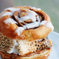 Dulce de Leche Cinnamon Roll S'more