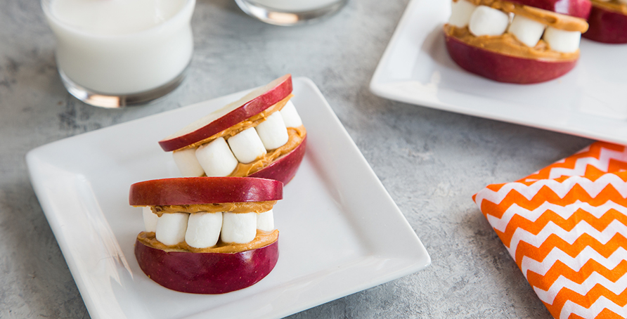 Marshmallow Apple Smiles