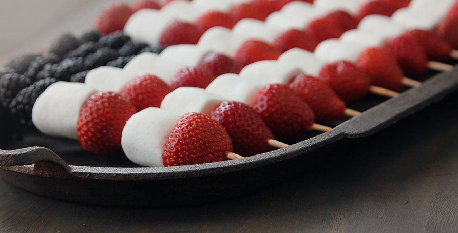 Patriotic Marshmallow Fruit Kabobs