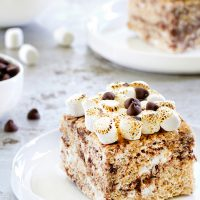 S'mores Marshmallow Crispy Treats