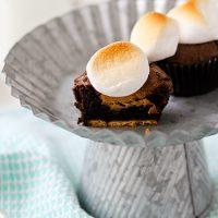 Sweet and Salty Smores Brownie