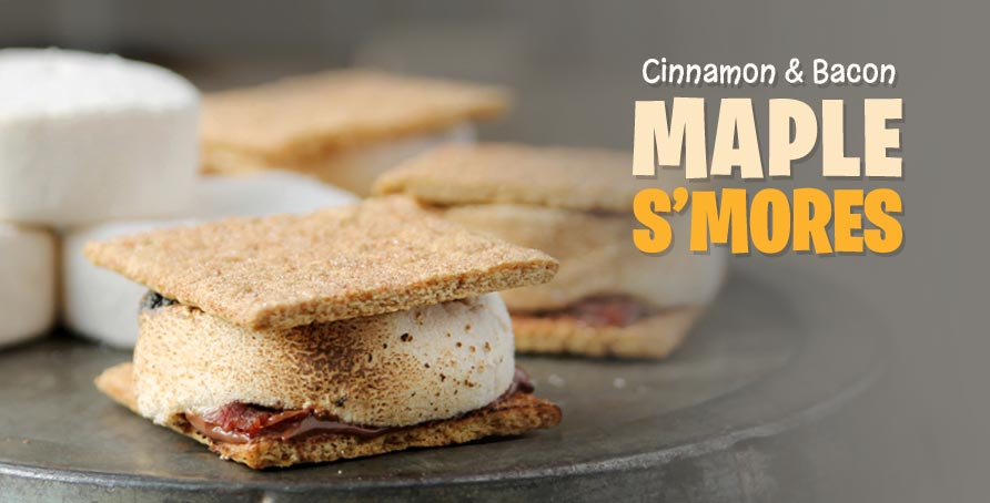 S'mores With Maple-Bourbon Marshmallows Recipe — Dishmaps