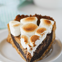 peanut butter smores brownie pie