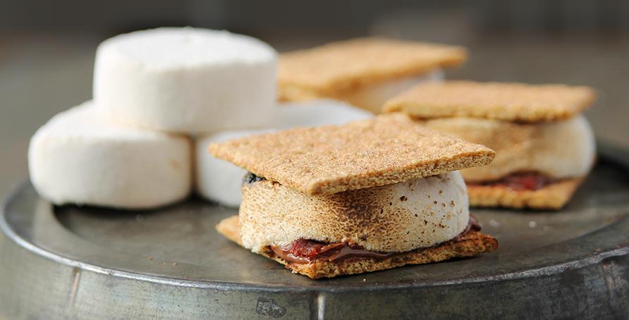 Maple Roaster Bacon Cinnamon S'mores | Campfire Marshmallows