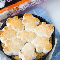 Toasty Ghosty Marshmallow Cookie Skillet