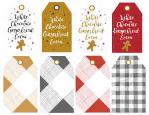 White Chocolate Gingerbread Cocoa Tags
