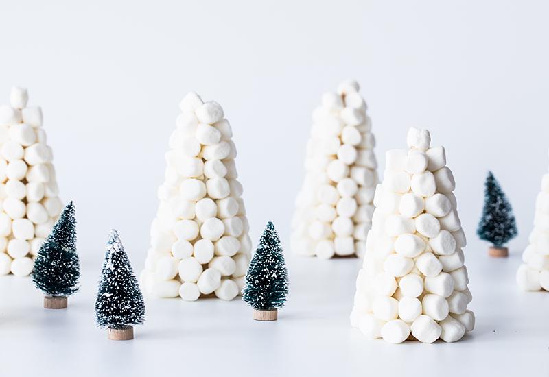 Mini Marshmallow Tree Decorations