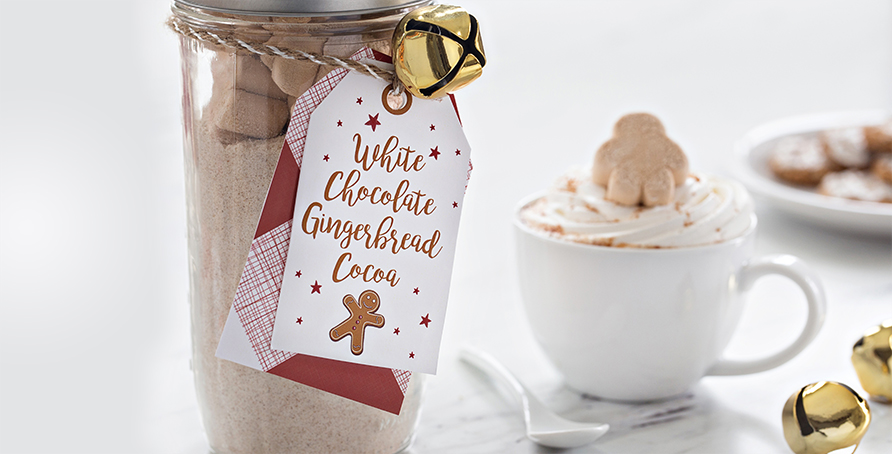 White Chocolate Gingerbread Cocoa Mix