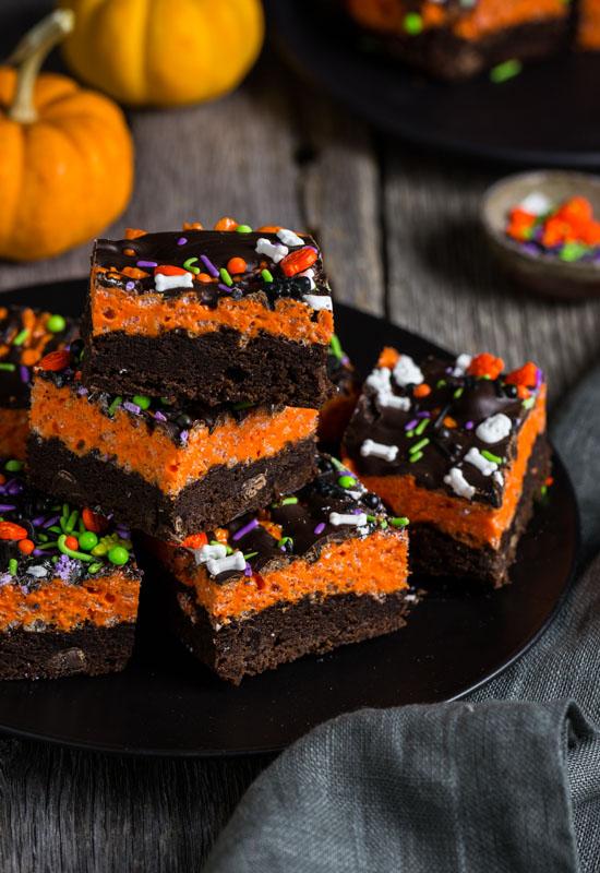 Brownie Krispy Treats for Halloween