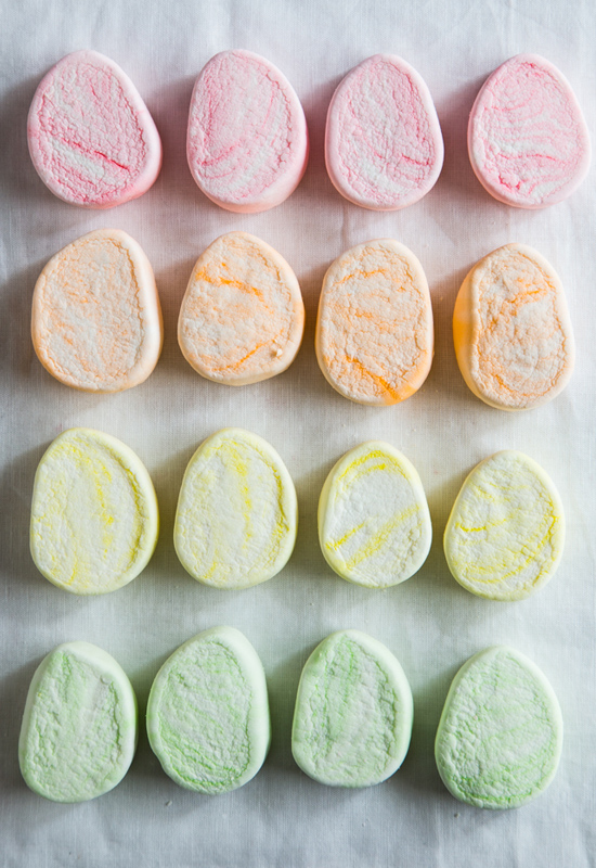 Colorful Egg Shaped Campfire Marshmallows