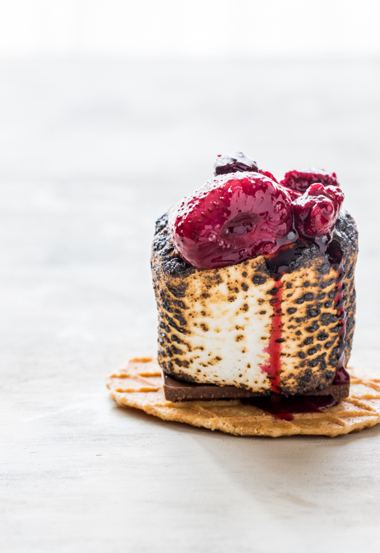How To Make Roasted Berry S'mores