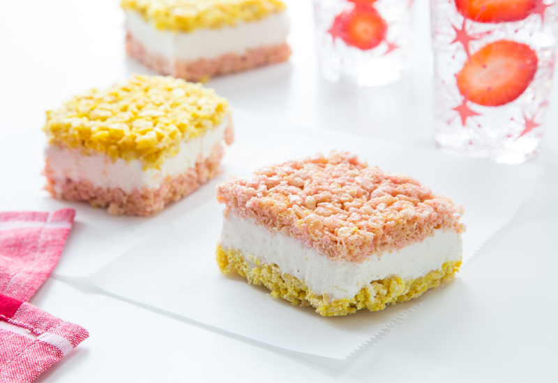 Strawberry Banana Marshmallow Treat Ice Cream Sandwich Recipe