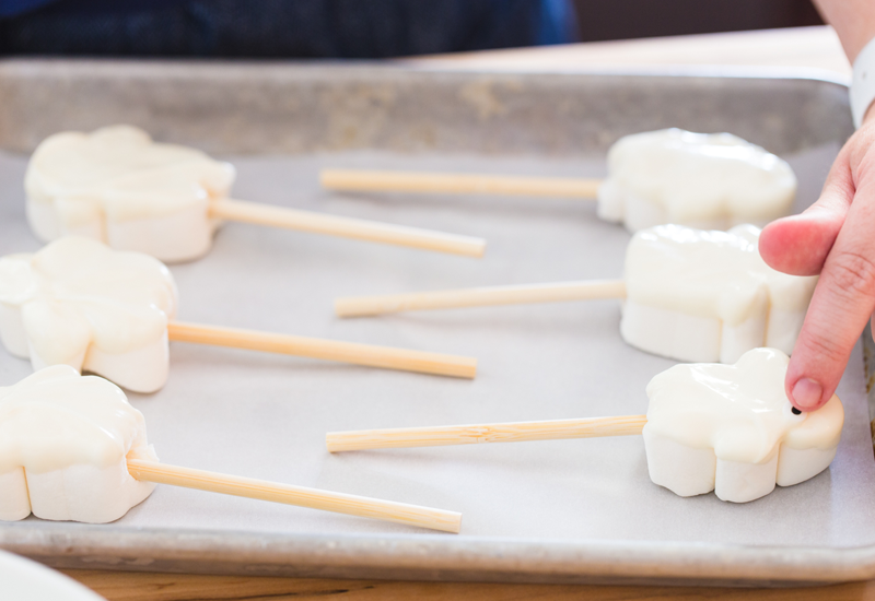 How to make Marshmallow Ghost Hot Chooclate Toppers