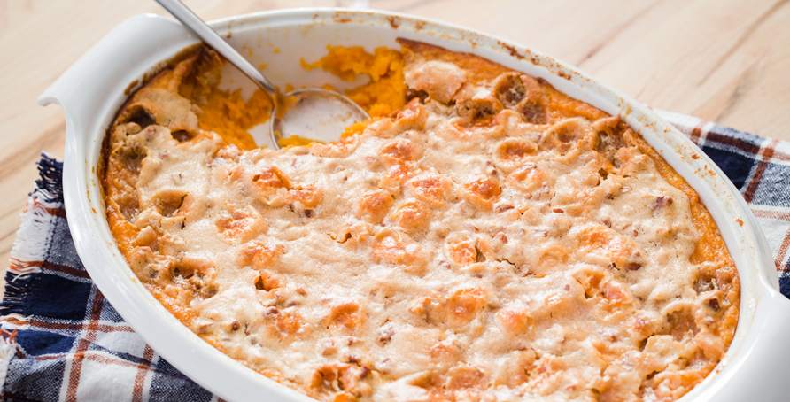Marshmallow Pecan Sweet Potato Casserole