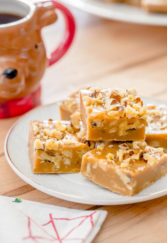 Gingerbread Marshmallow Fudge with coffee