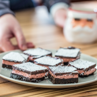 serving Mexican Hot Chocolate Shortbread Bars