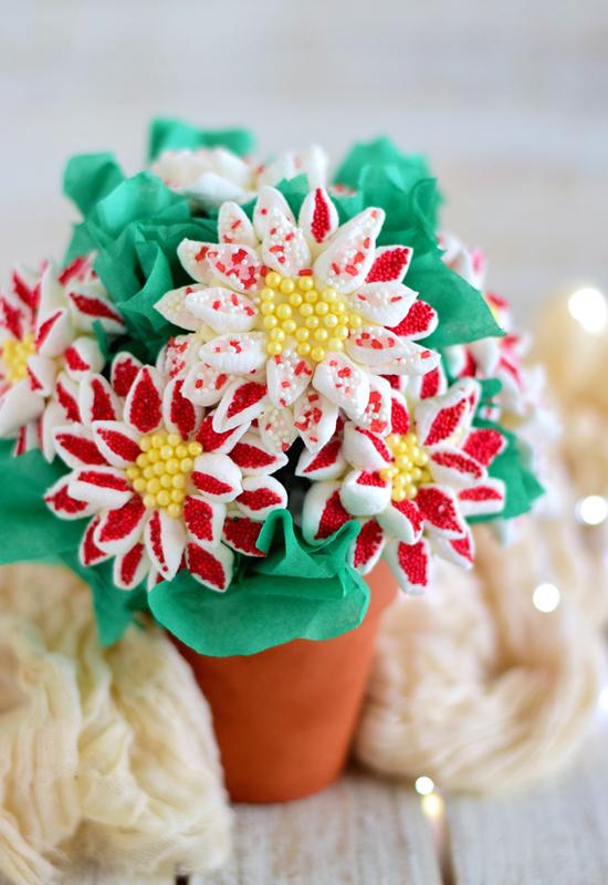 Mini Marshmallow Poinsettia Bouquet | Campfire Marshmallows