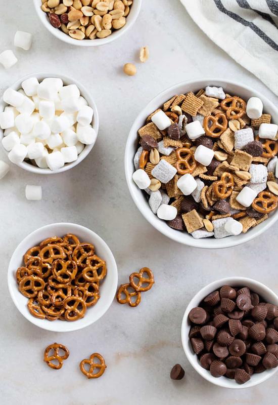 s'mores snack mix ingredients