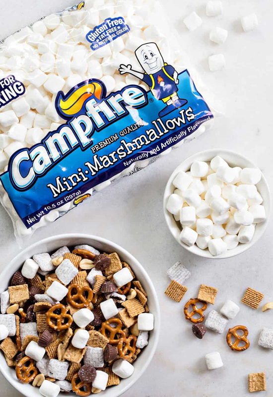 s'mores snack mix with Campfire marshmallows