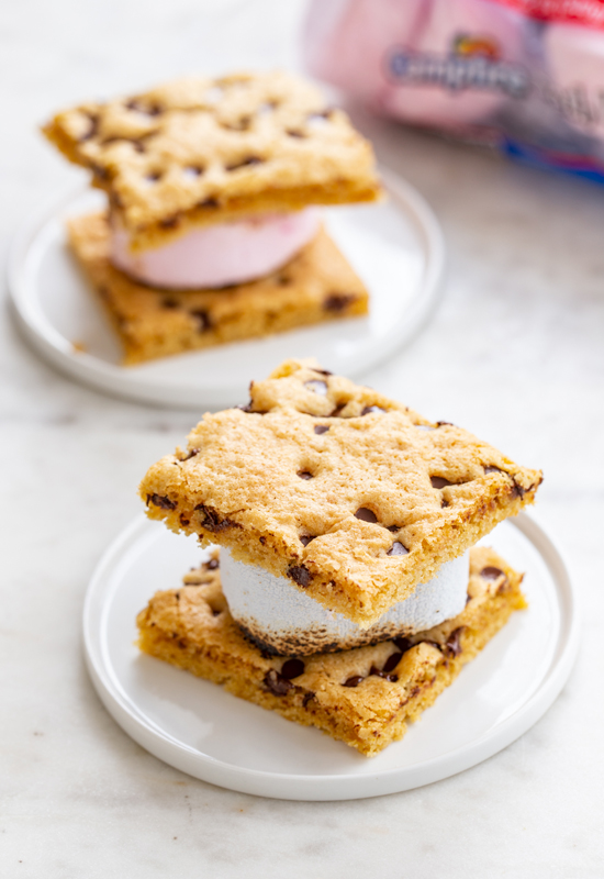 blondies with marshmallows in between