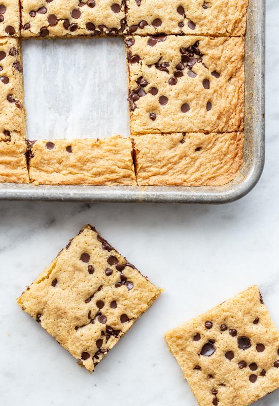 gluten free blondies in pan