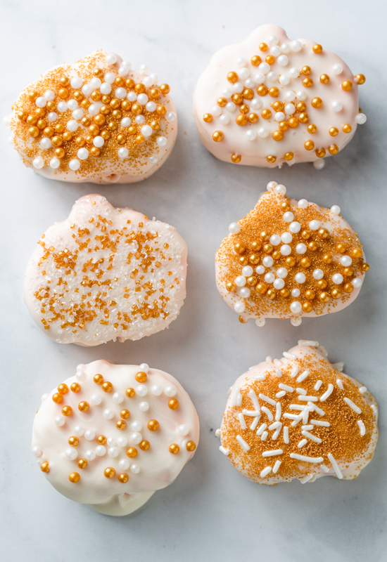 6 sprinkle covered Harvest Pumpkin Candy Marshmallows