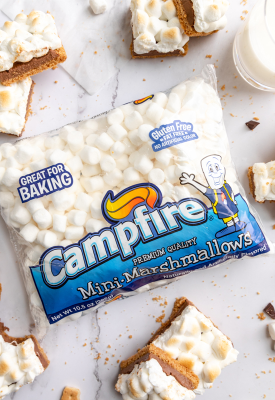 Campfire S'mores Bars and Campfire marshmallows